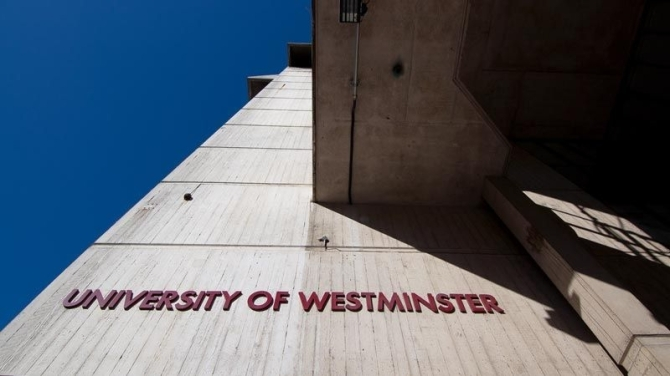 university-of-westminster-cavendish-letters-on-wall